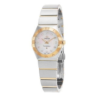 Omega Women's 123.20.24.60.55.002 'Constellation' Mother of Pearl Diamond Dial Stainless Steel/Yellow Gold Quartz Watch