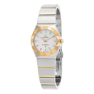 Omega Women's 123.20.24.60.05.002 'Constellation' Mother of Pearl Dial Stainless Steel/Yellow Gold Swiss Quartz Watch