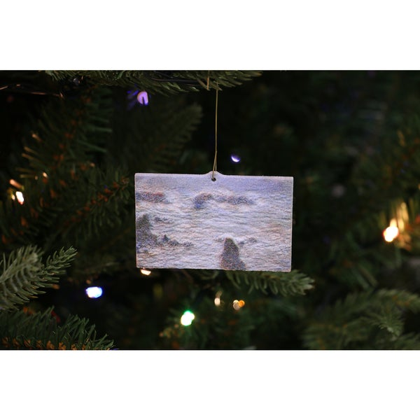 Claude Monet's 'Storm off the Coast of Belle-lle' 3D Printed Ornaments