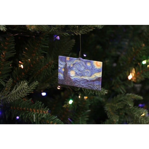 Vincent van Gogh 'Starry Night' 3D Printed Ornament