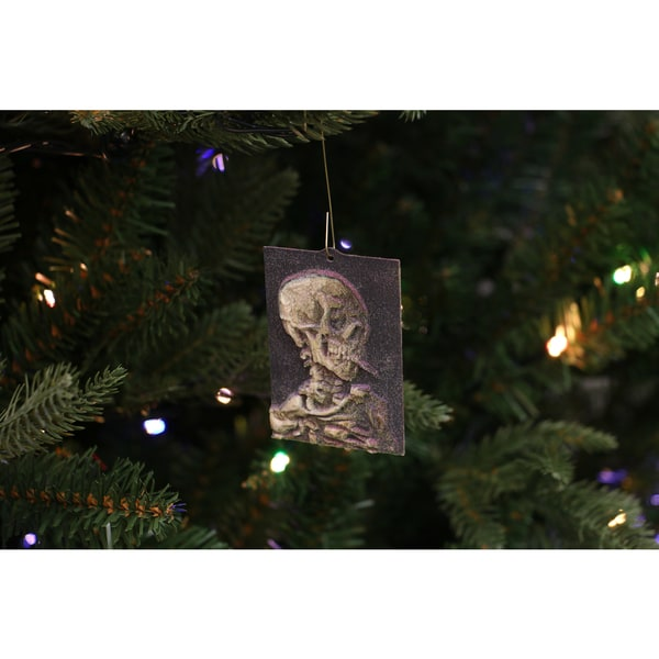 Vincent van Gogh 'Skull with Burning Cigarette' 3D Printed Ornament