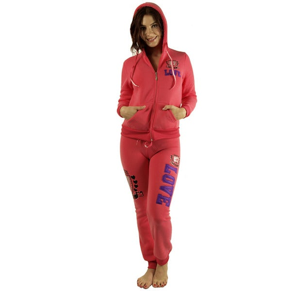 Women's 'Princess 87 Love' Coral Fleece Loungewear Set