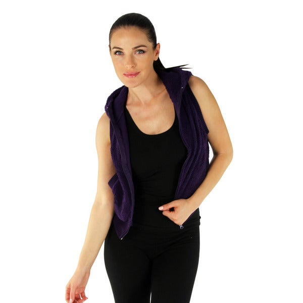 Women's Grape Hooded Fleece Vest