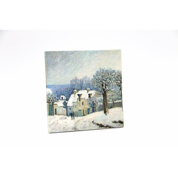Alfred Sisley 'The Place du Chenil at Marly-le-Roi' 3D Printed Art Tile