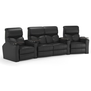 Octane Bolt XS400 Black Leather Theater Seating (4-piece Set)