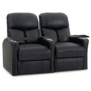 Octane Bolt XS400 Straight/ Manual Recline/ Black Bonded Leather Home Theater Seating (Row of 2)