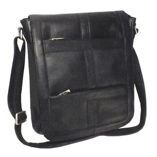 Royce Leather Colombian Leather 16-inch Laptop Laptop Messenger Bag