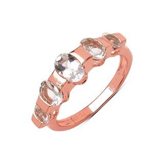 Olivia Leone 14k Rose Goldplated Sterling Silver 1 1/3ct Morganite Ring