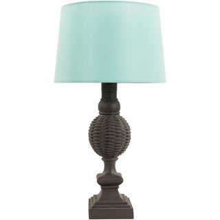 Contemporary Molly Table Lamp with Natural Finish Resin Base