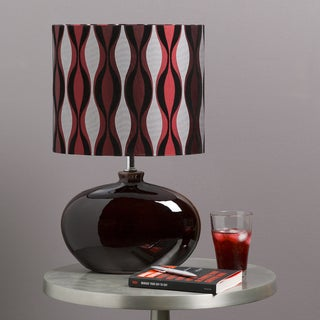 Contemporary Mia Table Lamp with Glazed Ceramic Base
