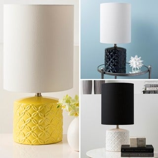 Modern Haru Table Lamp with Glazed Ceramic Base