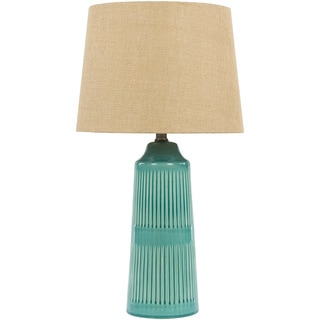 Contemporary Gage Table Lamp with Glazed Ceramic Base