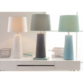 Contemporary Hayle Table Lamp with Glazed Ceramic Base