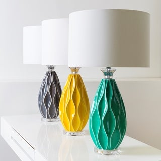 Modern Emmet Table Lamp with Glazed Ceramic Base