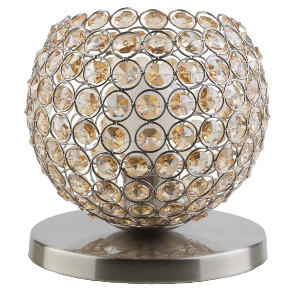 Specialty Clay Table Lamp with Brushed Nickel Finish Iron Base
