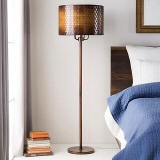 Rustic Dara Floor Lamp with Iron Finish Iron Base
