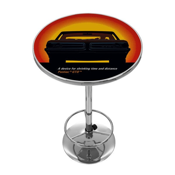 Pontiac GTO - Time & Distance - Chrome Pub Table