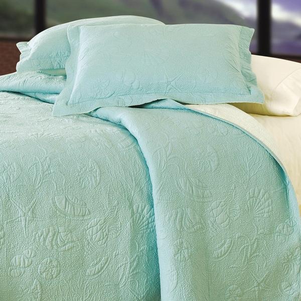 Blue Shell Matelasse Quilt