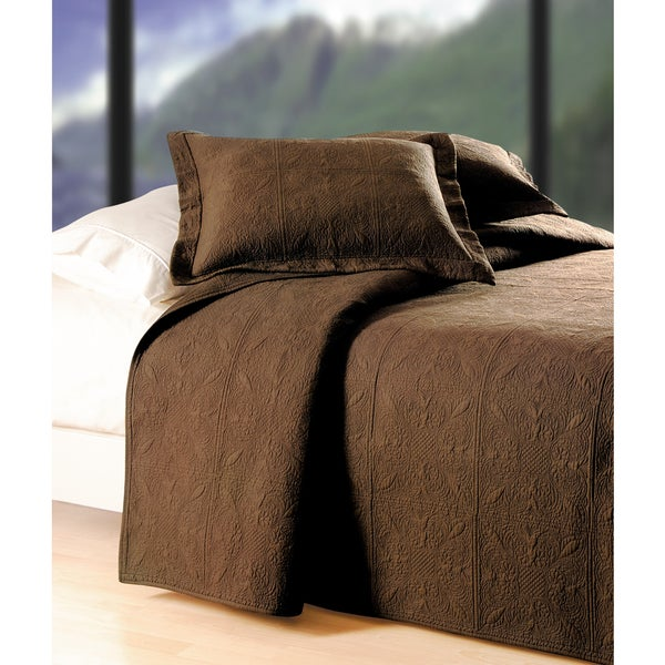 Chocco Brown Matelasse Quilt