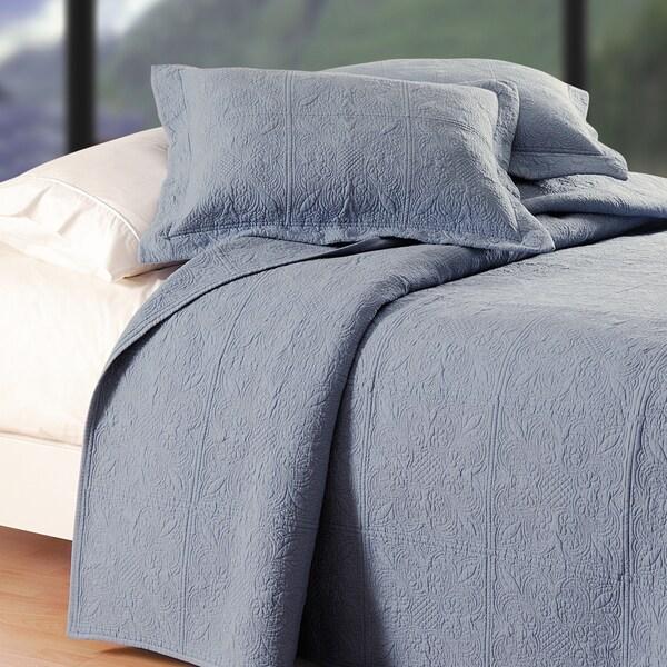 Colonial Blue Matelasse Quilt