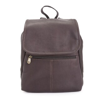 Royce Leather Colombian Leather Luxury Tablet iPad Travel Backpack