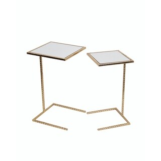 Privilege 2 Piece Gold Leaf Iron C Tables