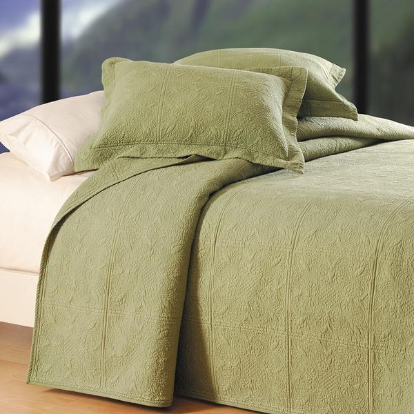 Sage Matelasse Cotton Quilt