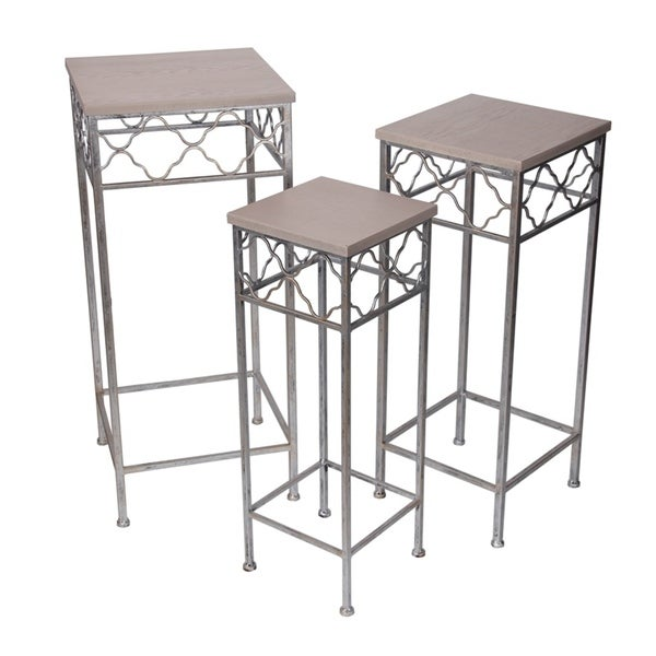 Privilege Square 3-piece Plant Stand Set