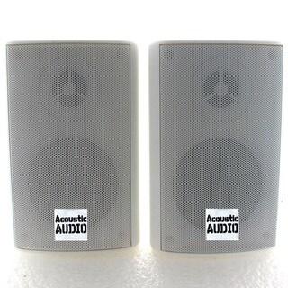 Acoustic Audio AA351W 2-way 500-watt White Indoor/ Outdoor Speakers