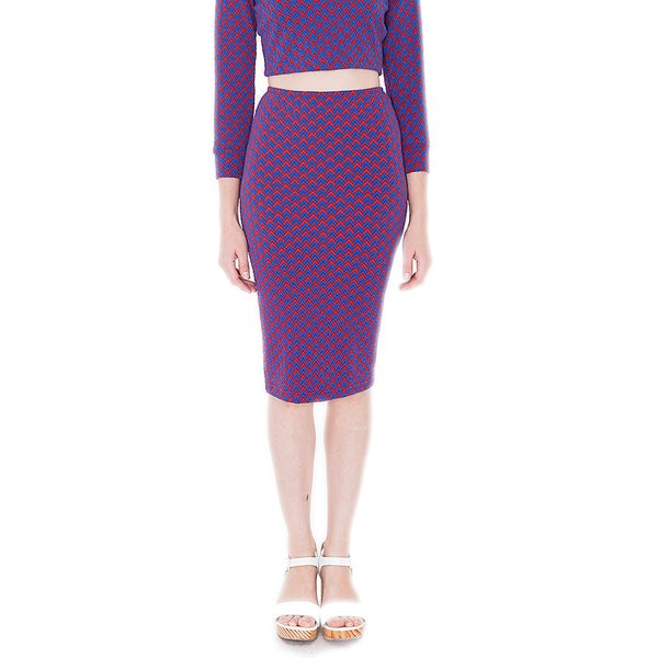 American Apparel Women's Jacquard Mid-Length Pencil Skirt