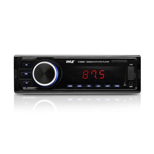 Pyle PLR29MU In-dash Radio/ MP3/ USB/ SD/ AUX Input Single DIN Headunit Stereo Receiver