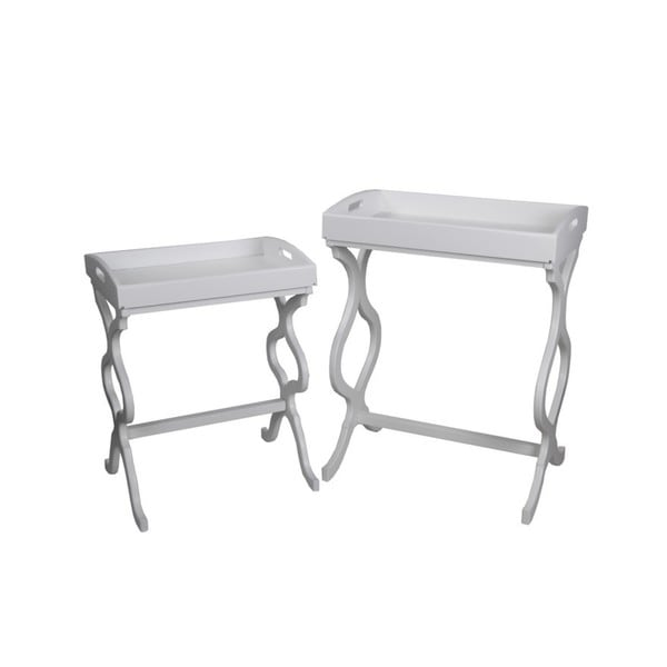 Privilege white 2 piece tray tables