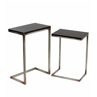 Privilege Iron & Stone Accent Stands (Set of 2)