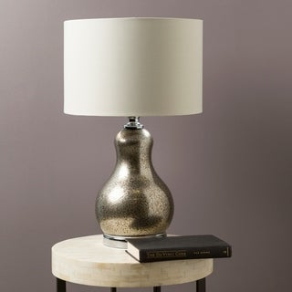 Rustic Feng Table Lamp with Pewter Finish Glass Base