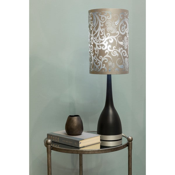 Transitional Corby Table Lamp with Oxidized Iron Base