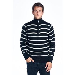 Men's Striped Zip Sweater