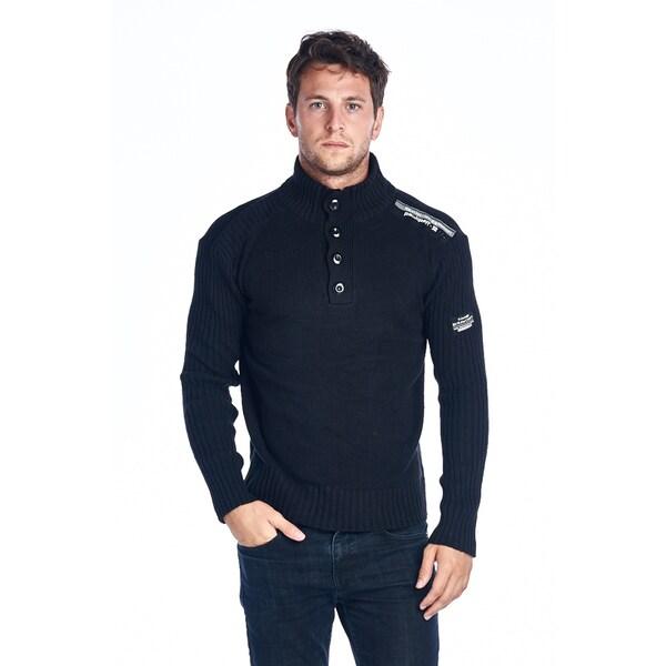 Rawcraft Men's Black Turtleneck Sweater