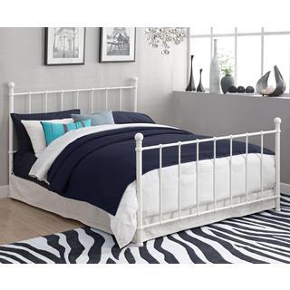 DHP BrickMill White Metal Full Bed