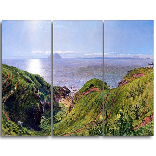 Design Art 'William Bell Scott - Ailsa Craig' Canvas Art Print