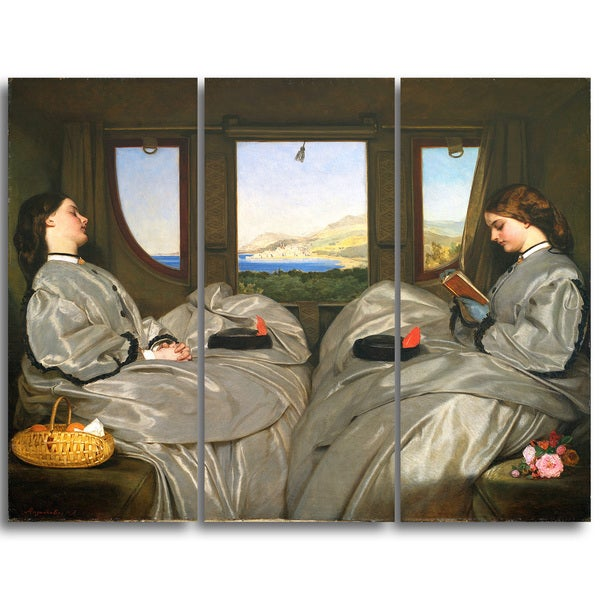 Design Art 'Augustus Leopold Egg - The Travelling Companions' Canvas Art Print