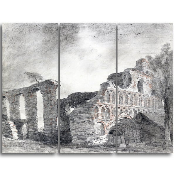 Design Art 'John Constable -Ruin of St. Botolph's Priory' Canvas Art Print