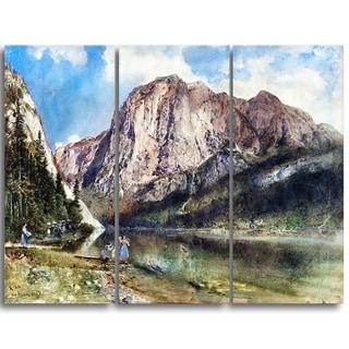Design Art 'Rudolf von Alt - Altaussee Lake and Mount Trissel' Canvas Art Print