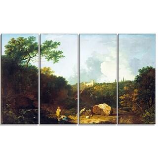 Design Art 'Richard Wilson - Distant View of Maecenas' Villa' Canvas Art Print
