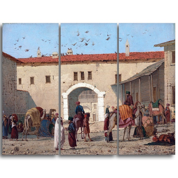 Design Art 'Richard Dadd - Caravanserai at Mylasa in Asia Minor' Canvas Art Print