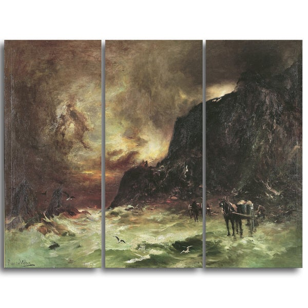 Design Art 'Petrus van der Velden - Storm at Wellington Heads' Canvas Art Print