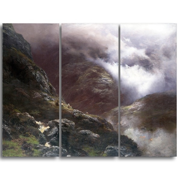 Design Art 'Peter Graham - After the Massacre of Glencoe' Canvas Art Print