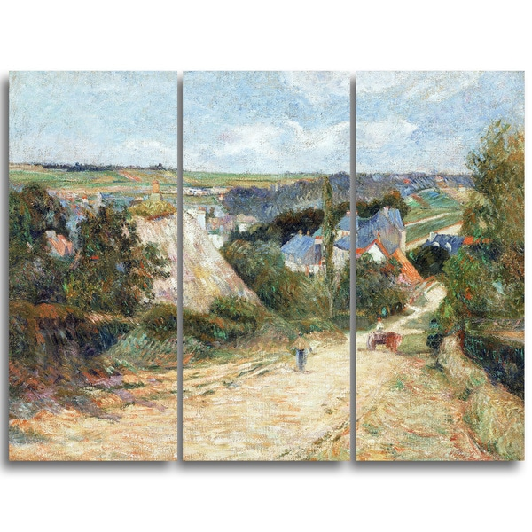 Design Art 'Paul Gauguin - Entrance to the Village of Osny' Canvas Art Print