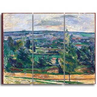 Design Art 'Paul Cezanne - Landscape from Jas de Bouffan' Canvas Art Print