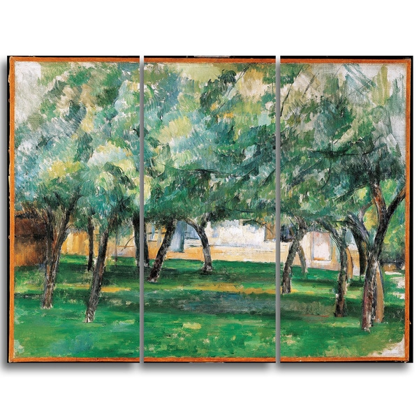 Design Art 'Paul Cezanne - Farm in Normandy' Canvas Art Print