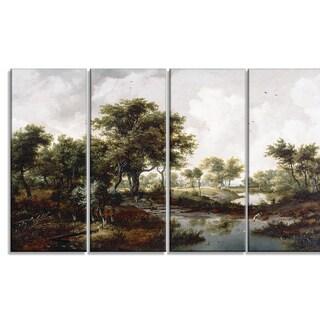 Design Art 'Meindert Hobbema - A Wooded Landscape' Canvas Art Print